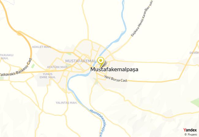 Mustafakemalpaşa Mevlana İlkokulu Haritası