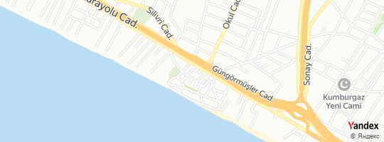 Direction for - İski - İstanbul Su Kanalizasyon İdaresi - Büyükçekmece Şube Müdürlüğü - Kumburgaz Vezne Büyükçekmece,İstanbul,Turkey