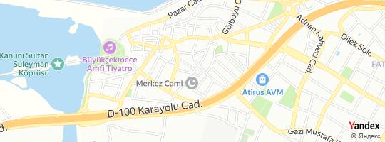 Direction for - Merkez Taksi Durağı (Ali Kara) Büyükçekmece,İstanbul,Turkey
