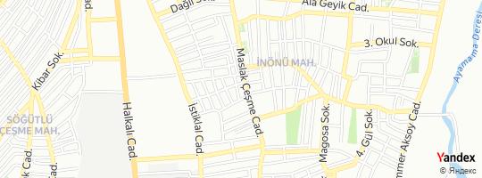 Direction for - Yapı Kredi Bankası İnönü Mahallesi Şubesi - Yapı Ve Kredi Bankası A.Ş. Küçükçekmece,İstanbul,Turkey