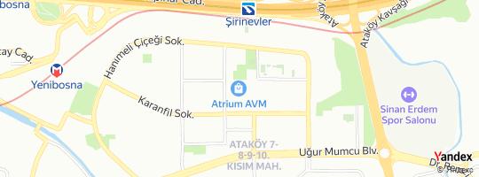 Direction for - Atrıum Çiçekçilik (Osman Çağlagan) Bakırköy,İstanbul,Turkey