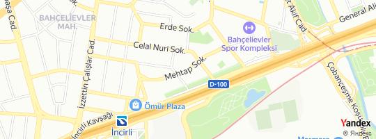Direction for - İstanbul Büyükşehir Belediye Başkanlığı - Osmaniye Mezarlığı Bahçelievler,İstanbul,Turkey