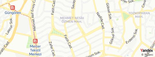 Direction for - Güney Mağaza Donatım Sistemleri (Özgür Poyraz) Güngören,İstanbul,Turkey