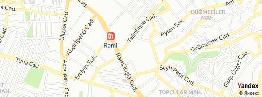 Direction for - Rami Oto Ekspertiz Eyüp,İstanbul,Turkey
