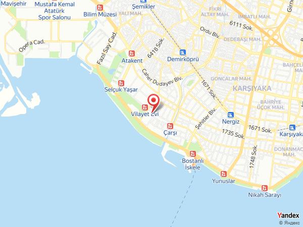 Vilayetler Evi Karşıyaka Yol Haritası