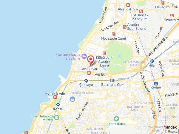 Hilton İzmir Yol Haritası