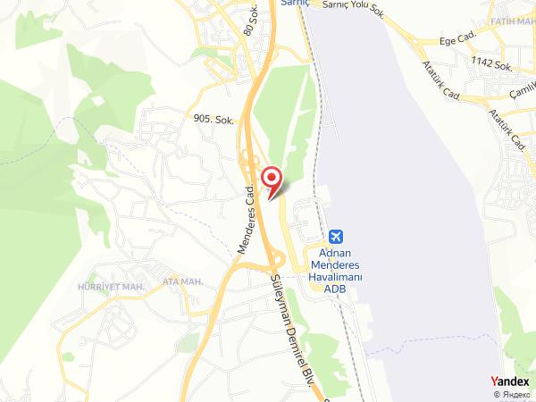 Orty Hotel Airport Yol Haritası