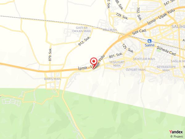 Salihli Yeşilçam Kır Düğün Bahçesi Yol Haritası