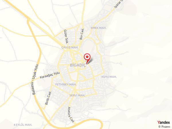 Bigadiç Belediye Düğün Salonu Yol Haritası