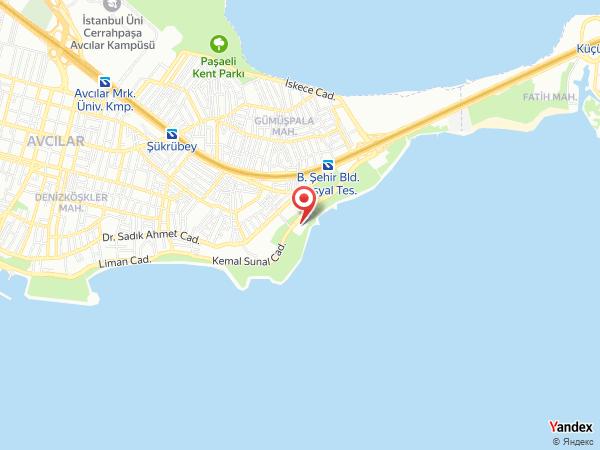 Avcılar Denizköşkler Davet Salonu Yol Haritası