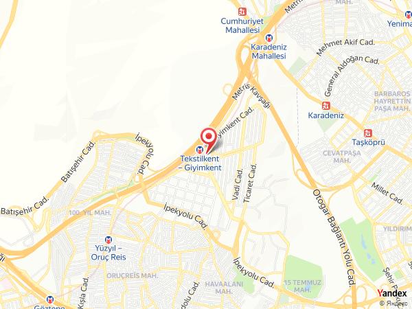 Ramada Plaza İstanbul Tekstilkent Yol Haritası