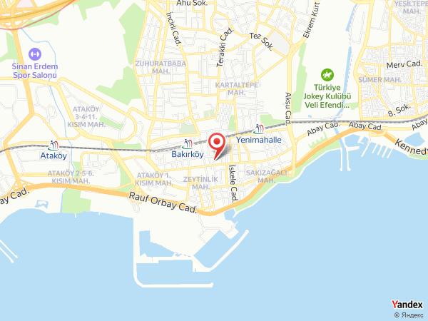 Bakırköy Nişan Kına Davet (Nisans Hotel) Yol Haritası