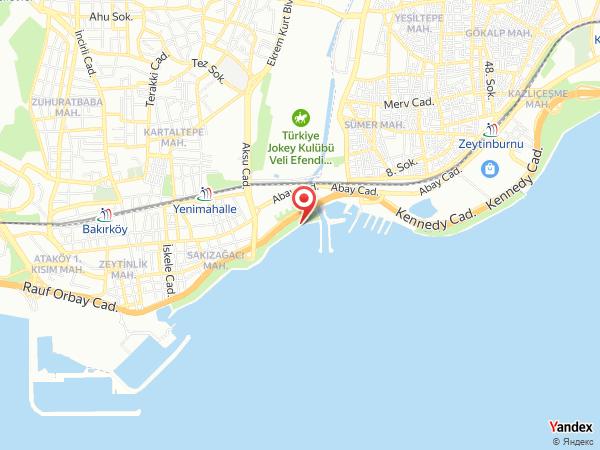 Hilton İstanbul Bakırköy Yol Haritası