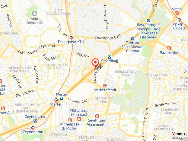 Mercure Hotels İstanbul Topkapı Yol Haritası