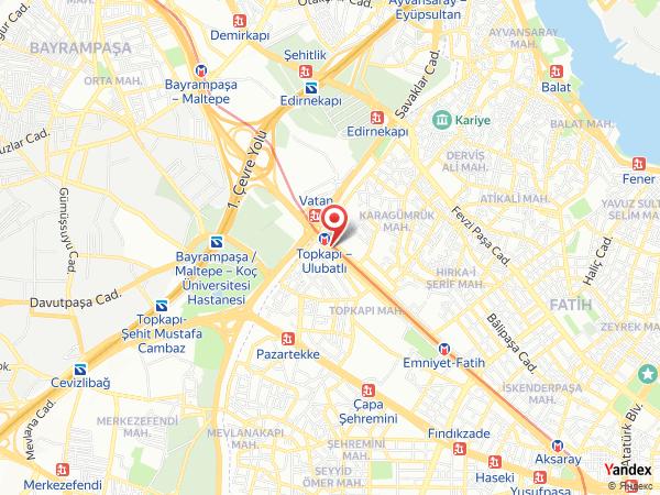 Akgün Hotel (LiLi Kına) Topkapı Yol Haritası