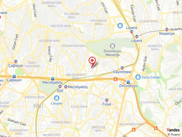 Boursier Hotel (LiLi Kına) Mecidiyeköy Yol Haritası