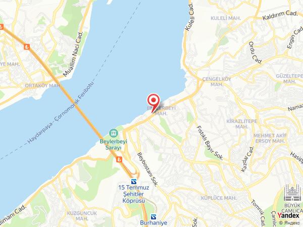 Bosphorus Palace Hotel Yol Haritası