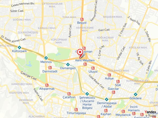 Çekirge İstasyon Yol Haritası