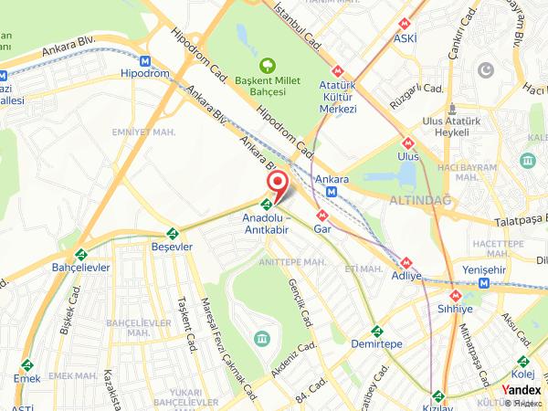 Ankara Altınel Hotel Yol Haritası