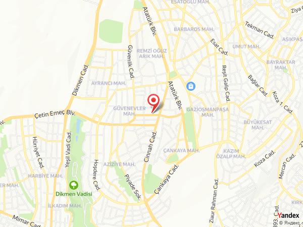 Otel Niza Park Yol Haritası