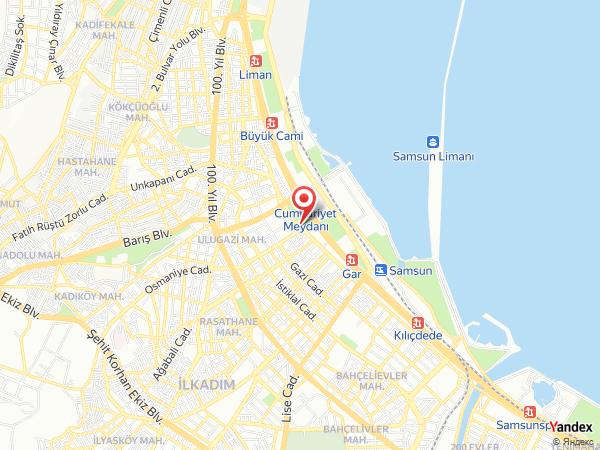 Grand Amisos Hotel Yol Haritası