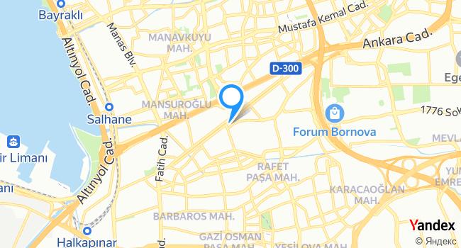 KONSEPT BORNOVA haritadaki yeri görseli