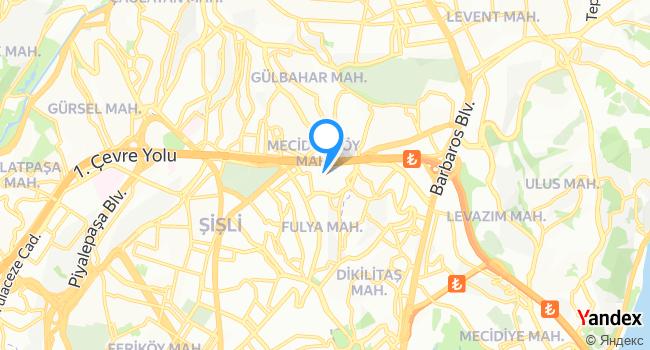Artı Sahne Mecidiyeköy haritadaki yeri görseli