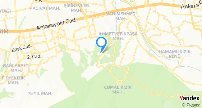 Yıldırım Belediyesi Hayvan Barınağı haritadaki yeri görseli