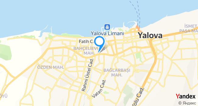 Yalova Uygulama Oteli Egitim Salonu haritadaki yeri görseli