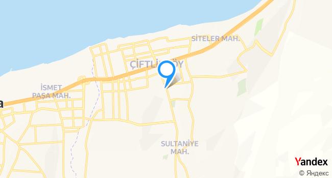 çiftlikköy Bey KONAĞI haritadaki yeri görseli