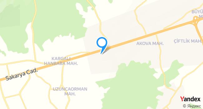 Hendek İnci Cafe Resturant haritadaki yeri görseli