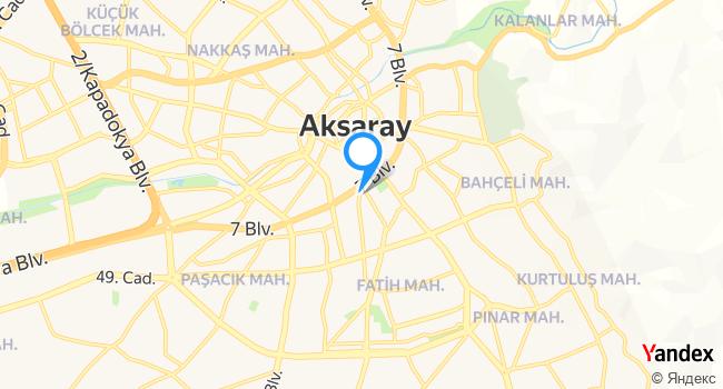 Aksaray Ar Radyo haritadaki yeri görseli