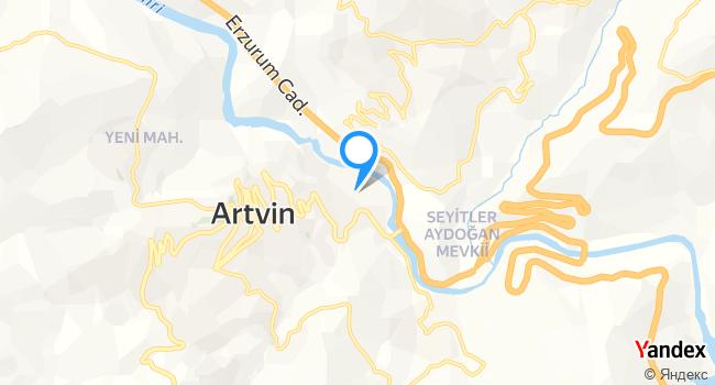 Artvin Yusufeli Döner Salonu haritadaki yeri görseli