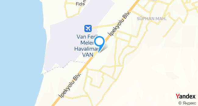 Van Bölge Eğitim Araştırma Hastanesi haritadaki yeri görseli