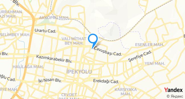 Bölge Eğitim ve Araştırma Hastanesi İpekyolu Ek Hiz. Binası haritadaki yeri görseli