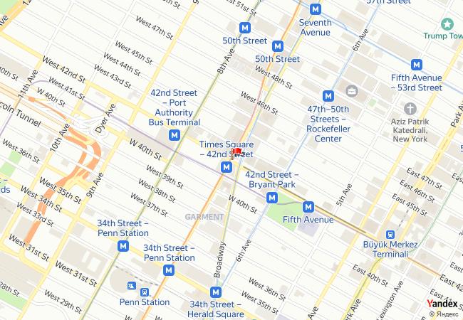 New York haritadaki konumu