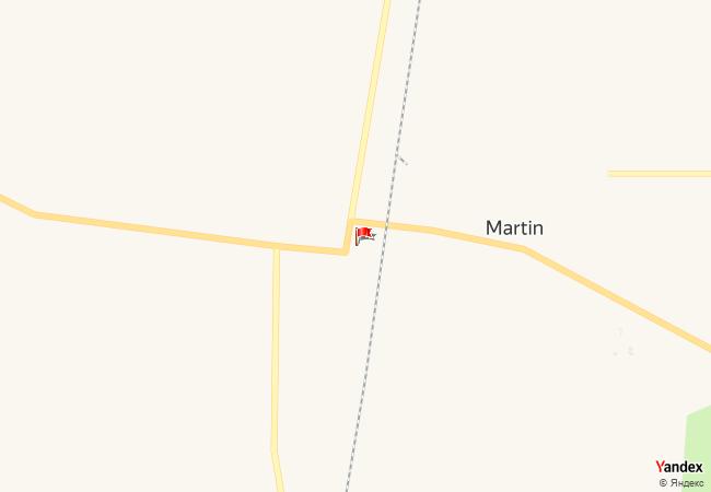 Martin haritadaki konumu