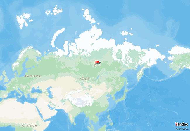 Rusya haritadaki konumu