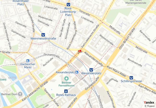 Berlin haritadaki konumu