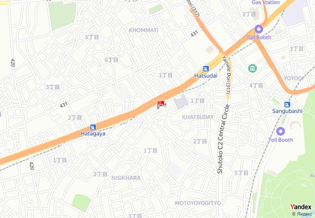 Tokyo haritadaki konumu