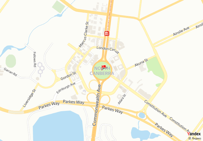 Canberra haritadaki konumu