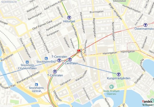 Stockholm haritadaki konumu
