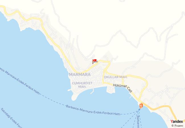 Marmara haritadaki konumu