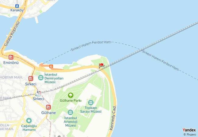 Sarayburnu haritadaki konumu