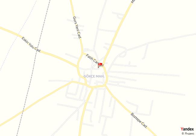 Kızıltepe, Gökçe haritadaki konumu