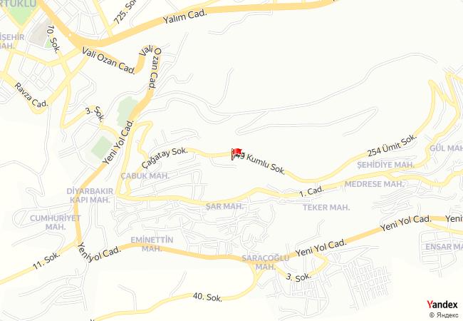 Mardin haritadaki konumu