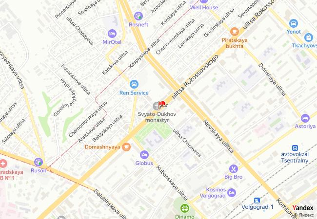 Volgograd haritadaki konumu