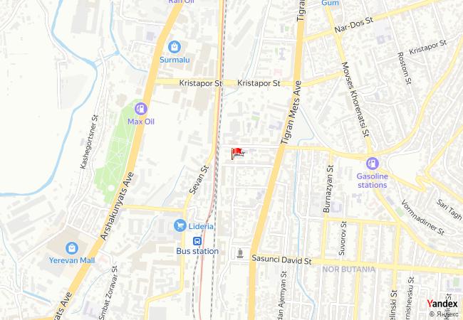 Erivan haritadaki konumu