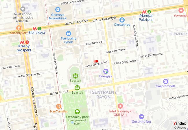Novosibirsk haritadaki konumu