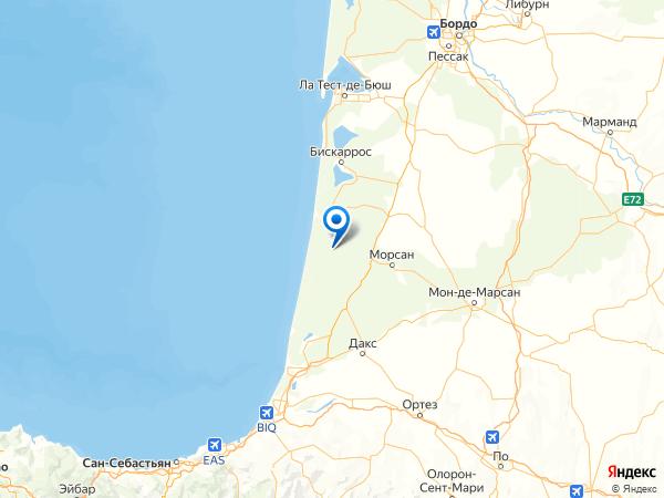 Сен-Жульен-ан-Борн на карте